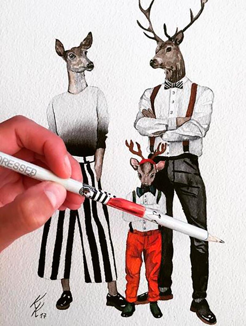 Karia Krumina dibujos