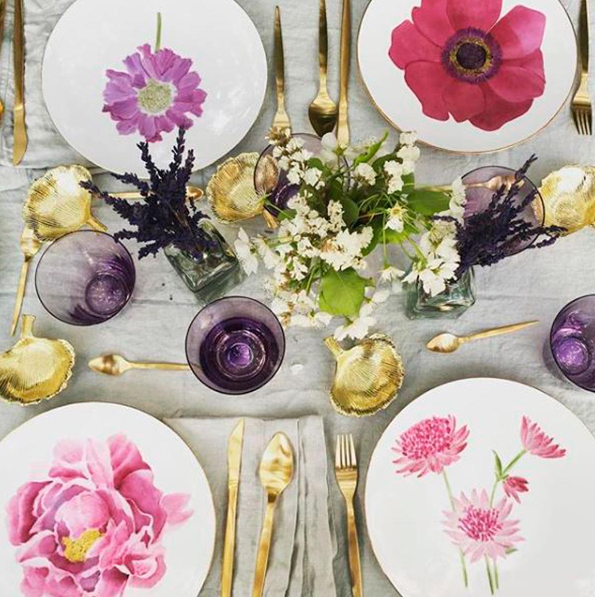 vajilla decoracion bodas