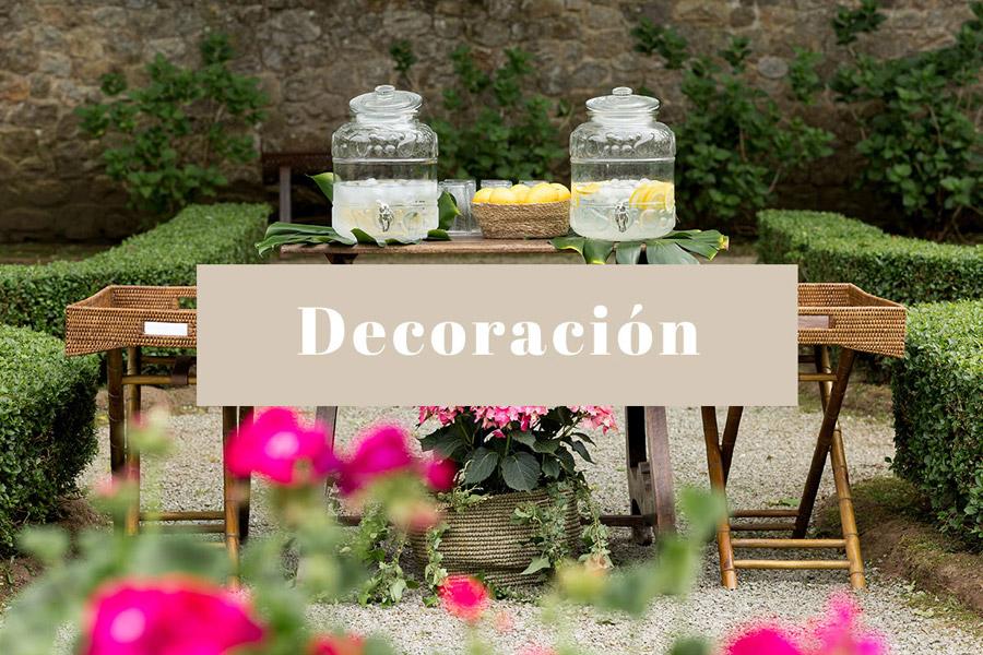 Decoración bodas